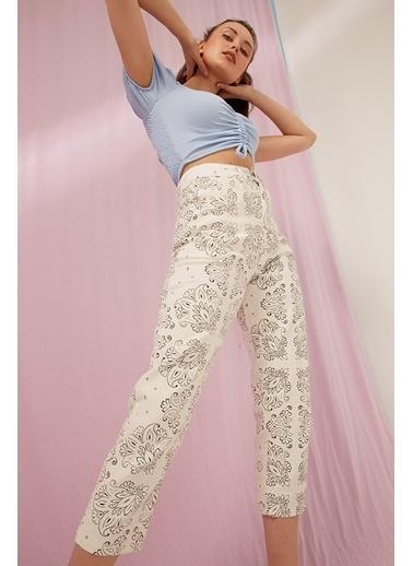 Modaset Pantolon Beyaz